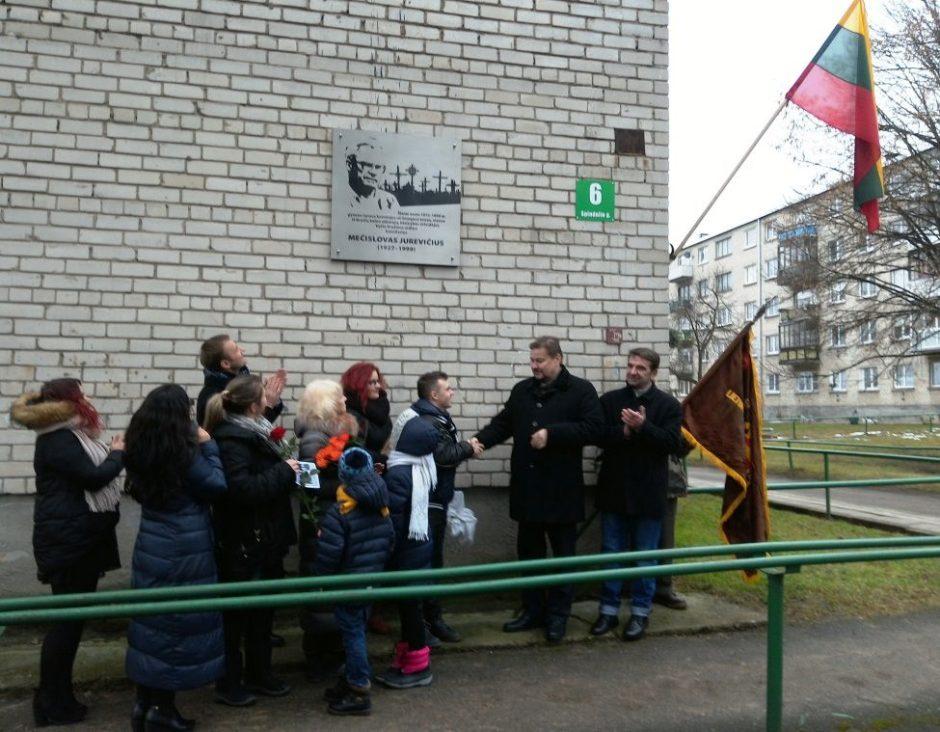 Įamžintas disidento Mečislovo Jurevičiaus atminimas