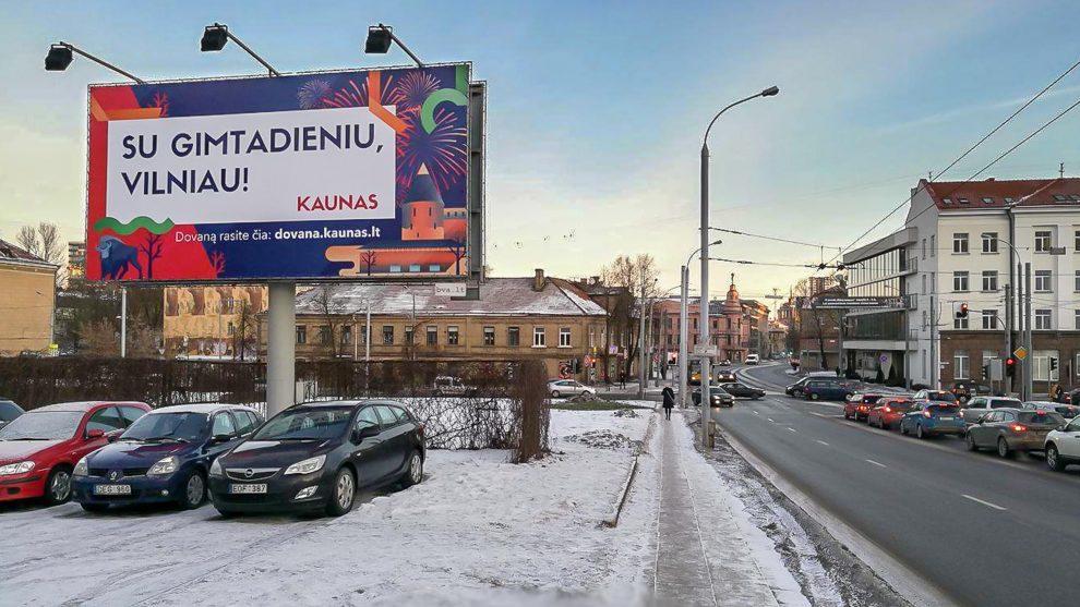 Kaunas Vilniaus gimtadienio proga vilniečiams paruošė netikėtą dovaną