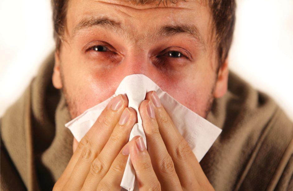 Sergamumas gripu ir ūminėmis viršutinių kvėpavimo takų infekcijomis sparčiai didėja