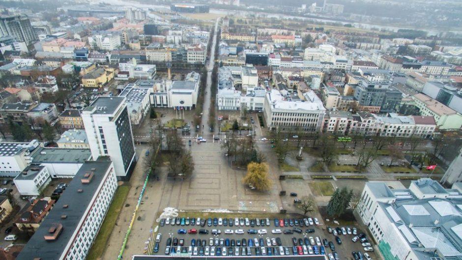Nuo žodžių prie darbų: Kaunas turės požeminį parkingą Vienybės aikštėje