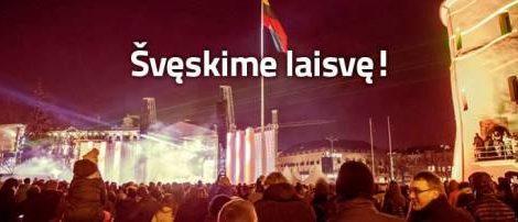 Vasario 16-ąją kviečiame švęsti Vilniuje