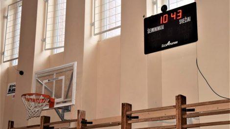 Alytaus mokyklų sporto salėse – švieslentės