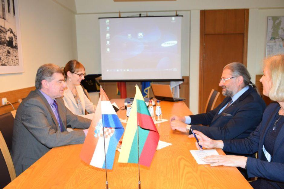 Meras priėmė Kroatijos ambasados laikinąjį reikalų patikėtinį