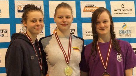Plaukikė Ieva Jacevičiūtė tapo Baltijos šalių čempione