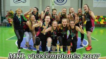 Alytaus SRC merginų krepšinio komanda jaunių U-18 merginų čempionate iškovojo antrąją vietą