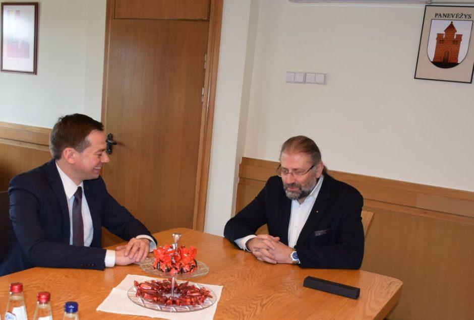 Panevėžio meras susitiko su Europos Komisijos atstovybės Lietuvoje vadovu