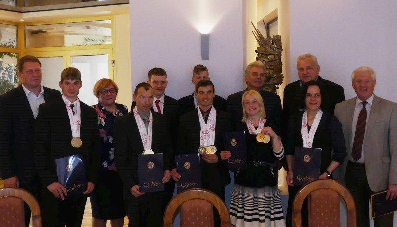 Pagerbti specialiosios olimpiados rinktinės čempionai