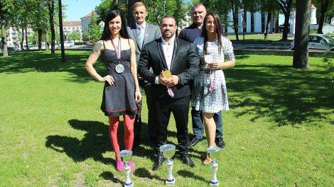 Šiauliuose pagerbti Europos kultūrizmo ir kūno rengybos (fitneso) čempionato nugalėtojai