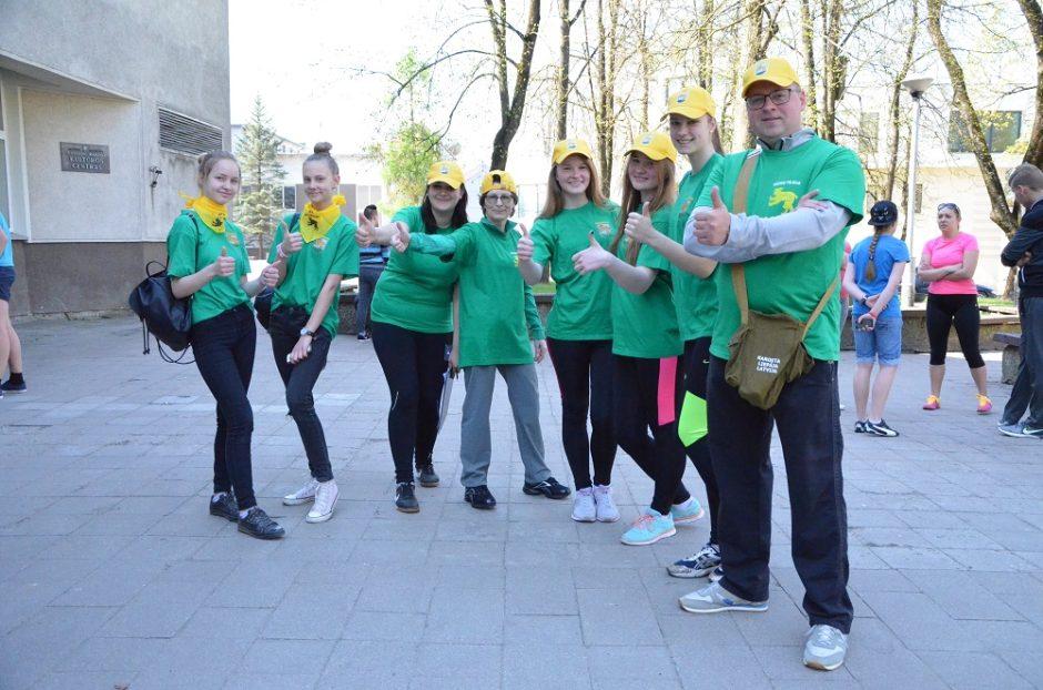 Vyko orientacinės varžybos Europos jaunimo savaitės metu
