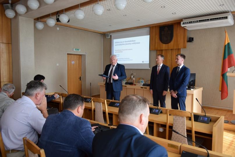 Pristatė žingsnius siekiant efektyvesnės Savivaldybės įmonių veiklos