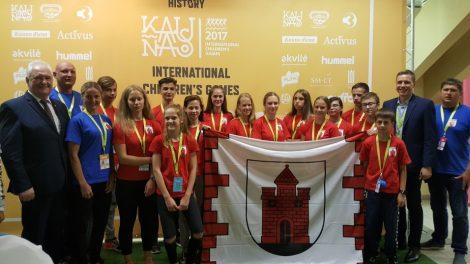 Tarptautinėse vaikų žaidynėse dziudo imtynininkai tapo prizininkais