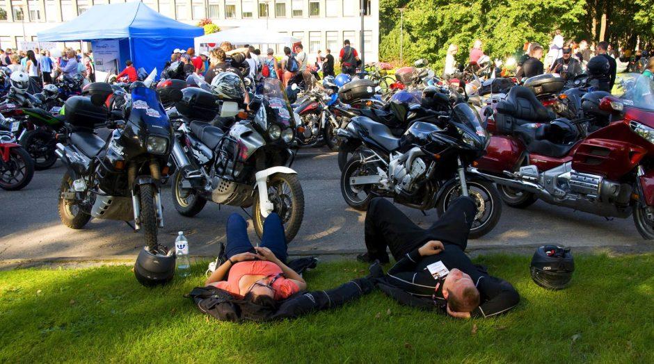 """""""Mototurizmo ralio 2017"""" finišas Birštone: 700 motociklininkų ir staigmenos žiūrovams"""