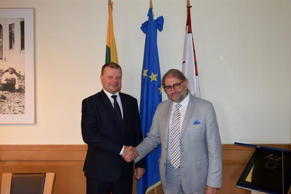Premjeras pažadėjo paramą Panevėžio savivaldybės projektams