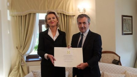 Dr. Ievai Gaižutytei įteiktas Italijos Žvaigždės ordinas