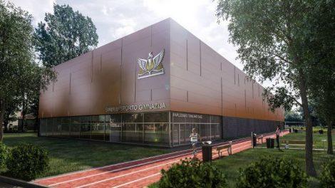 Įvertinta Šiaulių sporto gimnazijos daugiafunkcės salės statybų eiga