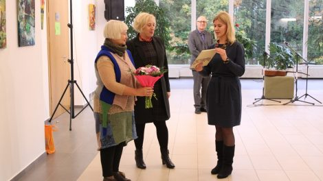 Šiaulių rajono savivaldybės kultūros centre atidaryta dailininkės Bitės Kuic tapybos darbų paroda