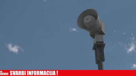 11 val. 52 min. Gyventojų perspėjimo sirenomis sistemos patikrinimas