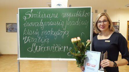 Plungės r. Platelių gimnazijos pradinių klasių mokytoja Vitalija Lukavičienė paskelbta inovatyviausia pradinių klasių mokytoja Lietuvoje