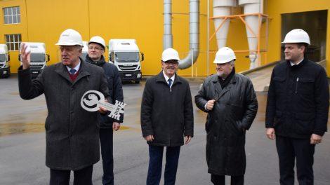 """Ariogaloje atidaryta moderni ŽŪK """"Agroaves group"""" lesalų gamykla"""