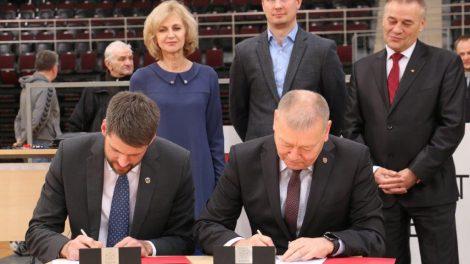 Bendradarbiavimo sutartis su Lietuvos rankinio federacija: daugiau stovyklų ir sporto renginių