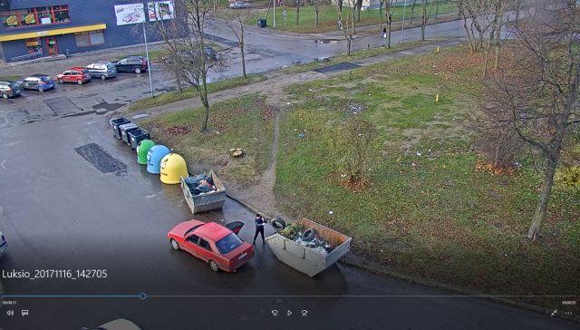 Kėdainiuose neatsakingai atsikratančiuosius atliekų stebi vaizdo kameros