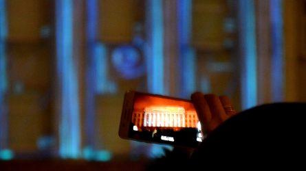 Šventinė studentų staigmena šiauliečiams – 3D vaizdo projekcija