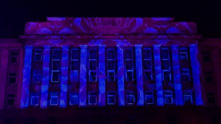 Kolegijų dovana miestui – 3D vaizdo projekcija