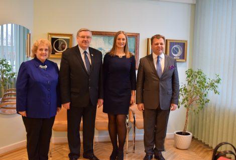 Savivaldybėje lankėsi Seimo narys Mantas Adomėnas
