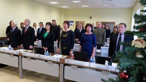 Įvyko paskutinis šių metų Šiaulių rajono savivaldybės tarybos posėdis