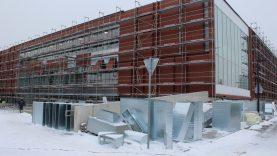 Baseino statybos: atliekami paskutiniai darbai