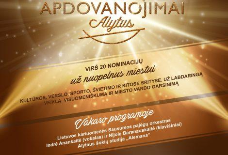 Jau rytoj – iškilmingas Alytaus metų apdovanojimų vakaras!