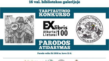 Ekslibrisų paroda, skirta atkurtos Lietuvos šimtmečiui