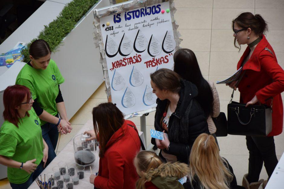 Studentai kviečia paminėti Pasaulinę vandens dieną