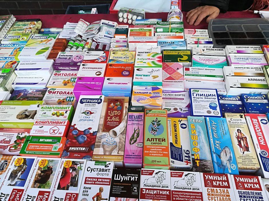 Prekiautojos vaistiniais preparatais prarado dalį produkcijos