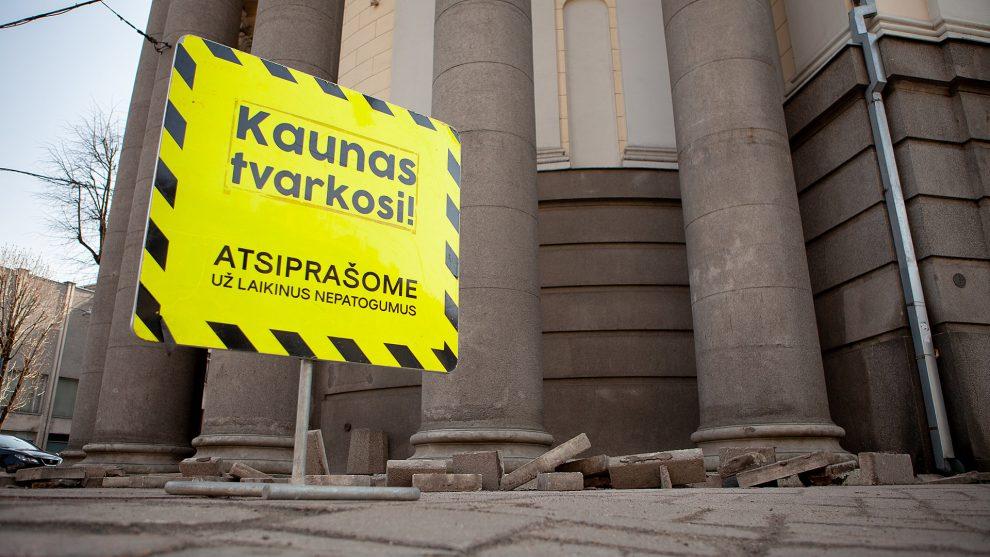Kauno centras vėl virsta milžiniška statybų aikštele
