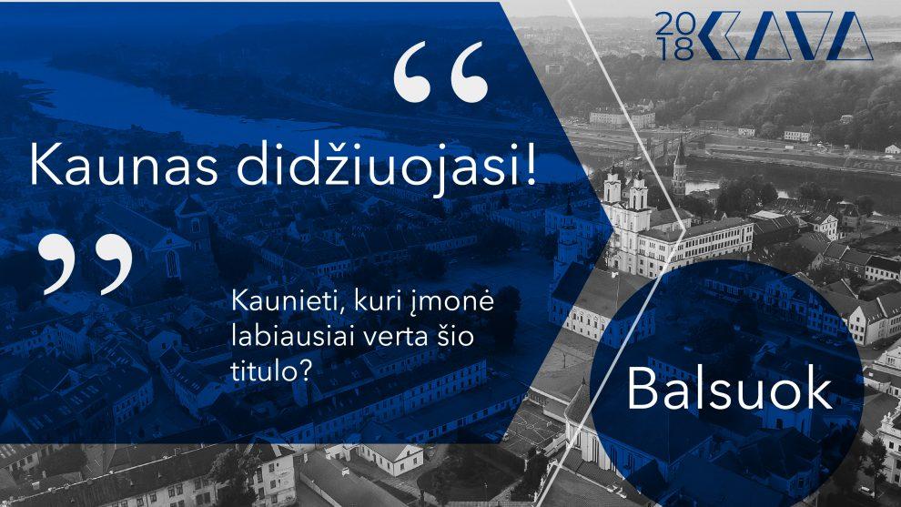 """""""Kaunas didžiuojasi"""": penkios įmonės varžysis dėl kauniečių balsų K.A.V.A. apdovanojimuose"""