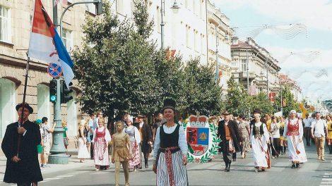 Šiauliečių delegacija Lietuvos šimtmečio dainų šventėje