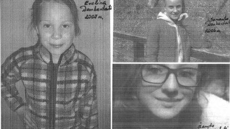 Prašome pagalbos dėl dingusių nepilnamečių