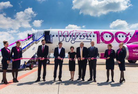 """Pristatytas """"Wizz Air"""" 100-asis orlaivis ir tolesni planai"""