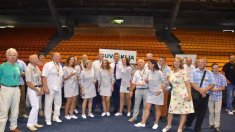Legendinėje Kauno halėje minėtame olimpiados jubiliejuje - ir marijampoliečiai