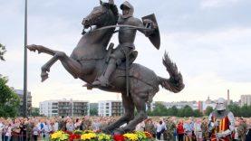 Lazdijų rajono meras dalyvavo iškilmingame Vyčio skulptūros atidengime Kaune