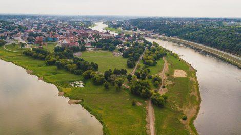 FOTO: Žvilgsnis į rekonstruojamą Kauno Santakos parką: kokį vaizdą po mėnesio išvys popiežius?