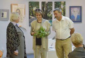 Dailininkės S. Medytės jubiliejinės parodos atidarymas