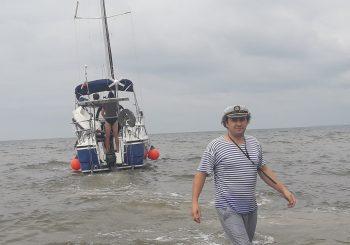 Pirmoji ir vienintelė šį sezoną jachta švartavosi Šventosios uoste