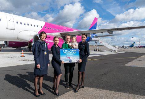 """""""Wizz Air"""" iš Vilniaus pervežė 6 milijonus keleivių"""