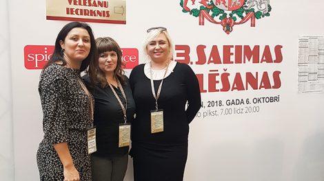 VRK nariai stebėjo rinkimus į 13-tą Saeimą Latvijoje