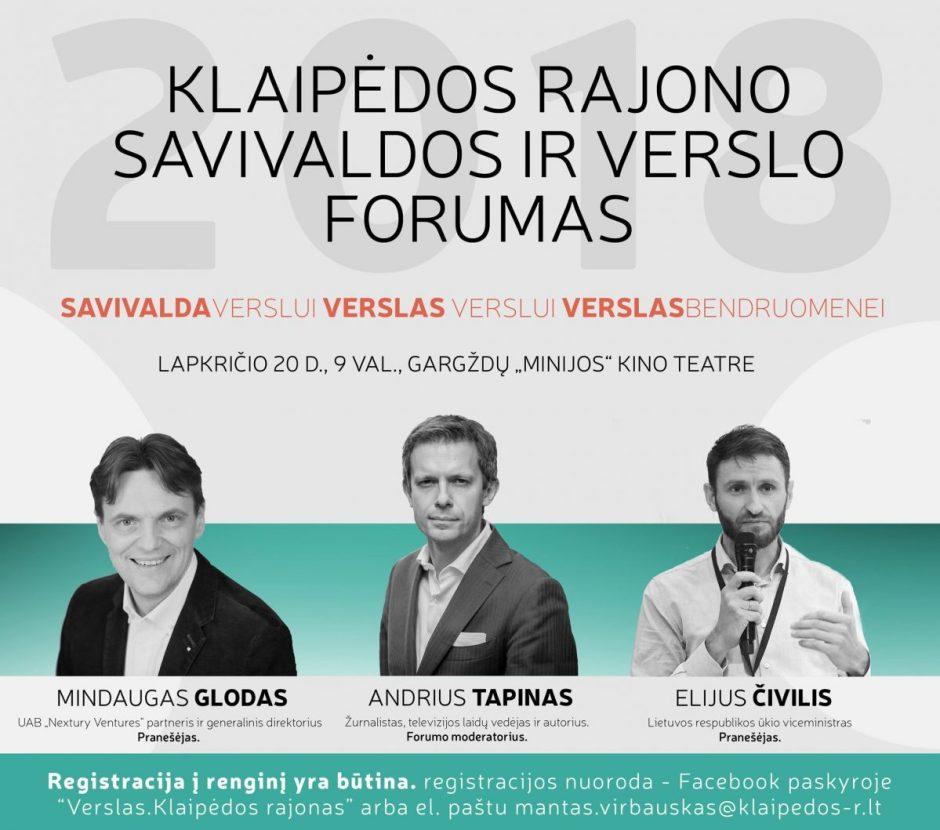 Klaipėdos rajono savivaldos ir verslo forumas 2018!