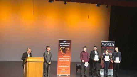 "Pasaulinio akordeonistų konkurso ""Trophee Mondiale"" laureatas - Jonas Vozbutas"