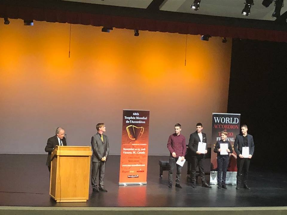 "Pasaulinio akordeonistų konkurso ""Trophee Mondiale"" laureatas – Jonas Vozbutas"