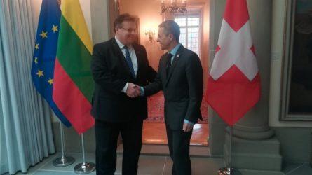 Ministras L. Linkevičius susitiko su Šveicarijos užsienio reikalų ministru